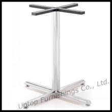 Jambe de table à manger en acier inoxydable Cross 4 Prongs (SP-STL052)