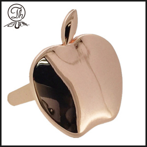 Rose gold apple pin clip metal