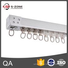 GD40 alumínio deslizante teto cortina faixa modelo de montagem em parede