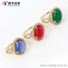 13722 Xuping Gold Rings Nuevo modelo Big Gemstone Ring, el último diseño de anillo de bodas