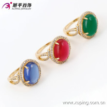 13722 Xuping золотые кольца новая модель большой драгоценный камень кольцо, последнее обручальное кольцо конструкции