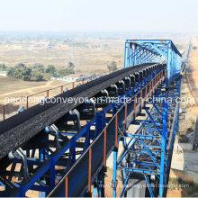 Overland Long Distance Curved Belt Conveyor System