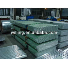 Corrugated galvanized roofing sheet building material