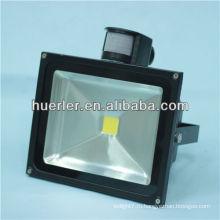 Высокая мощность 50w 200-240v / AC50-60hz 36v / DC 5-8m / 120deg pir сенсор светодиодный прожектор