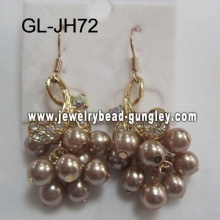 female shell pearl earrings