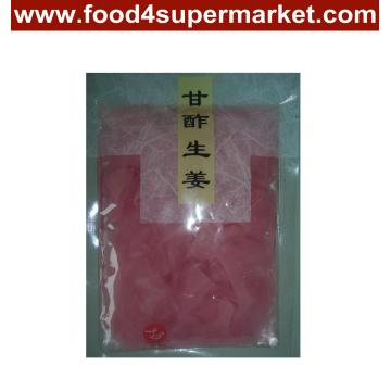 Pickled Sushi Ginger Slice White and Pink in Bag and Bottle