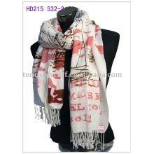 печать Пашмины шарф