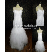 New collect waist fishtail package show thin buttock trailing sexy bride wedding dress