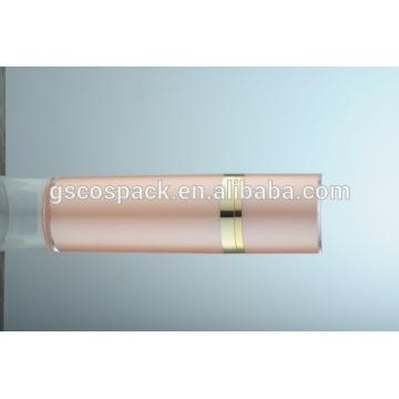 Botella de crema de acrílico rosado cosmético