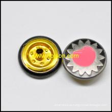 Accesorios de la ropa de esmalte botón rápido