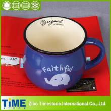 Taza de cerámica bonita del regalo azul