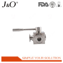 Hot Sale Sanitary Clamp Stainless Steel 3 Way Ball Valve