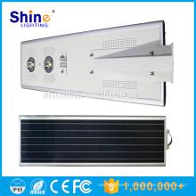 Bateria de lítio de alta luminância 70w luz de rua conduzida solar integrada, lâmpada de luz solar conduzida, luz de rua conduzida da rua
