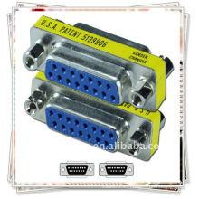 NUEVO 15Pin VGA SVGA hembra a hembra adaptador de acoplador adaptador / adaptador VGA