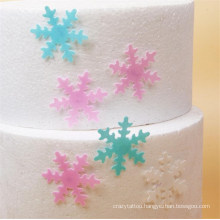 240PCS/Box Birthday Cake Christmas Baking Creative Edible Snowflake Glutinous Rice Paper Wafer Paper Cold Dishes Decoration Edible Paper