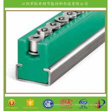 Guide de chaîne en plastique résistant à l'usure pour rail de convoyeur