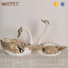 Recuerdos de boda de alta calidad resina cisne estatua