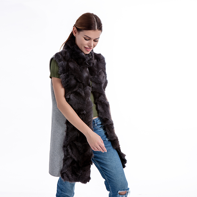 Fur Vest Coat