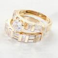 Anillo de oro del zircon de las mujeres del acero inoxidable del Web site de China de Ebay