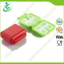 Boîte à pilules Mini Bag Shape avec 8-Case, boîte à pilule carrée