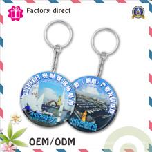 SGS Factory 50mm Logo d'impression personnalisé Tinplate Keychain Porte-bouteilles