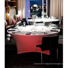 nappe de Lycra/spandex, nappe buffet pour fête de mariage/banquet /