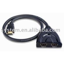 HDMI Schalter 2X1 (HDMI V1.3) Switcher, Pigtail Type