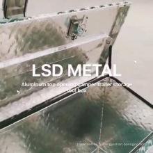 plaque de contrôle en aluminium ouverture supérieure boîte à outils remorque ute