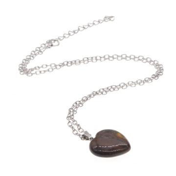 Natural Heart Tiger eye women Necklace