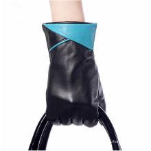 Großhandelsfrauen arbeiten Winterlederhandschuh um
