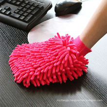 Wholesale custom microfiber chenille cleaning glove in car/automobile wash mitt/glove