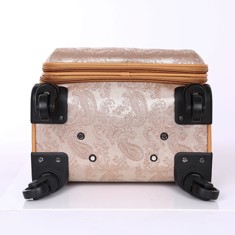 Fashion PU leather rolling luggage sets5