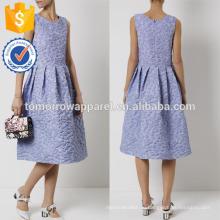Новая мода синий Василек синий и белый в полоску без рукавов летнее платье Производство Оптовая продажа женской одежды (TA5285D)