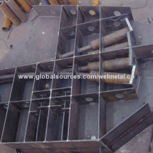 Steel structure bridge abutment