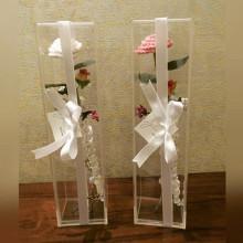 Новый стиль вертикальной прозрачной акриловой цветочной коробке