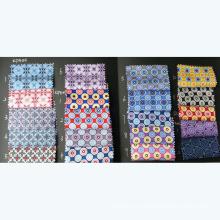 Nuevo diseño de impresión de seda corbata de tela
