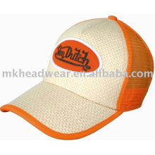 good quality straw trucker cap
