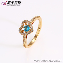 12693 Fashion jewelry elegant ring, heart shape latest 18k gold color ring designs for girls
