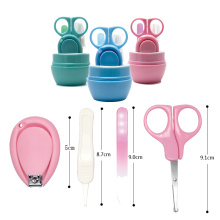 Tijeras seguras para bebés pequeños y bonitos de alta calidad, cortaúñas, juego de cuidado de manicura, juego de cuidado de cortador de seguridad