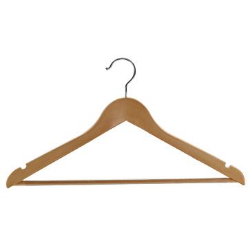 Cintre en bois de vêtements d'hôtel