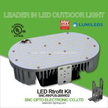 Jogo industrial do retrofit 200w, luz de inundação, luz de rua e substituição do coanopy