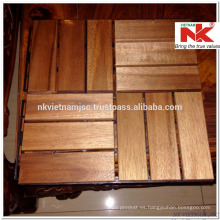 Azulejos de madera de la cubierta de Vietnam 300x300x19 milímetro - exterior duradero por el recubrimiento del aceite