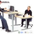 Лицом к лицу два стола четыре ножки, регулируемая высота электрический стоя компьютерный стол/стол