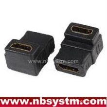Abgewinkelt 90 Grad HDMI Adapter A Typ weiblich zu weiblich