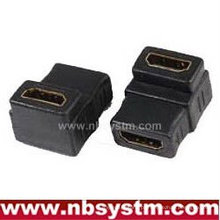 Adaptador HDMI angulado de 90 graus Um tipo feminino para fêmea
