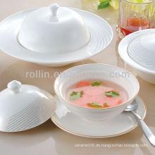 Beliebte weiße Porzellan-Ofen Safe Hotel Kochgeschirr-Set