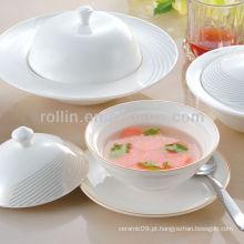 Conjunto de jantar de louça mais vendido, conjunto de jantar de porcelana, conjunto de jantar por atacado