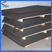 Treillis métallique serti par trou carré (usine)