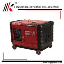 Generador diesel silencioso de Yangke ventas del volumen 5.8kw 6.6kw 7.6kw 8.6kw pequeñas