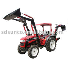 Mini Garden Tractor Loader and Backhoe with Mower